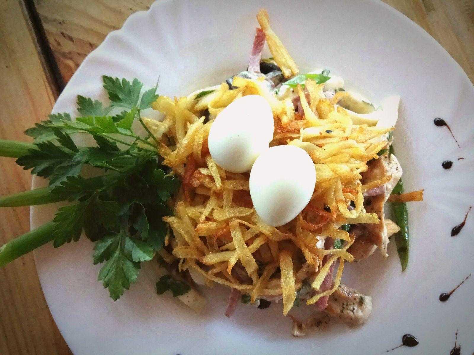 Салаты с картошкой и курицей – пошаговые рецепты приготовления с фото