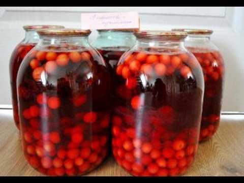 Компот из вишни на зиму - пошаговые рецепты на 3 литровую банку