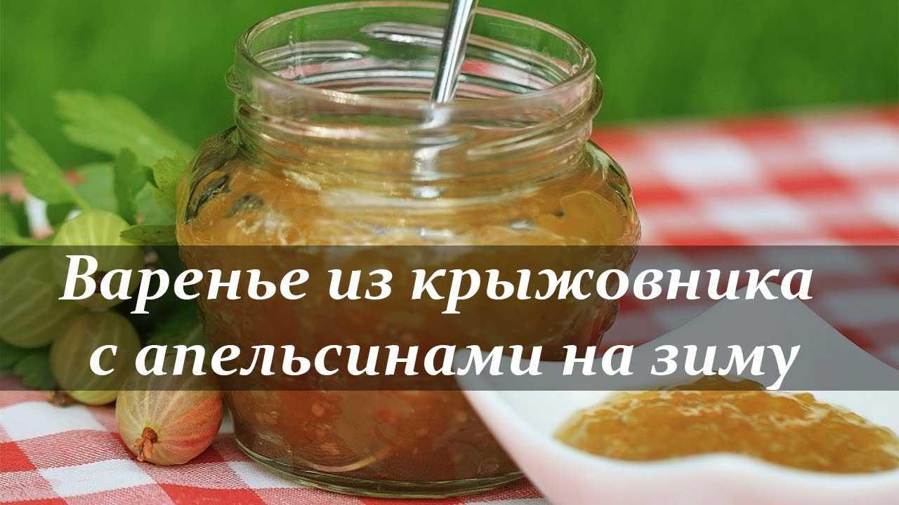 Джем из крыжовника на зиму: простые рецепты с апельсином, лимоном, смородиной