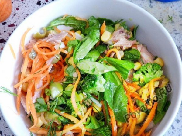 Салат с консервированным тунцом - 12 вкусных рецептов приготовления