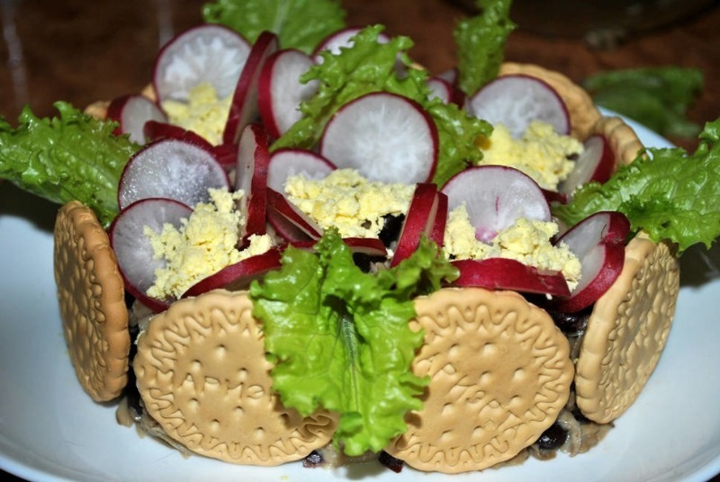 Простой салат фиалка – пошаговый рецепт.