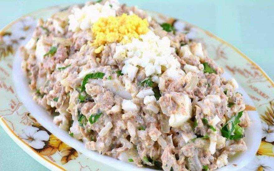 Салат черепаха с консервами рецепт с фото - 1000.menu