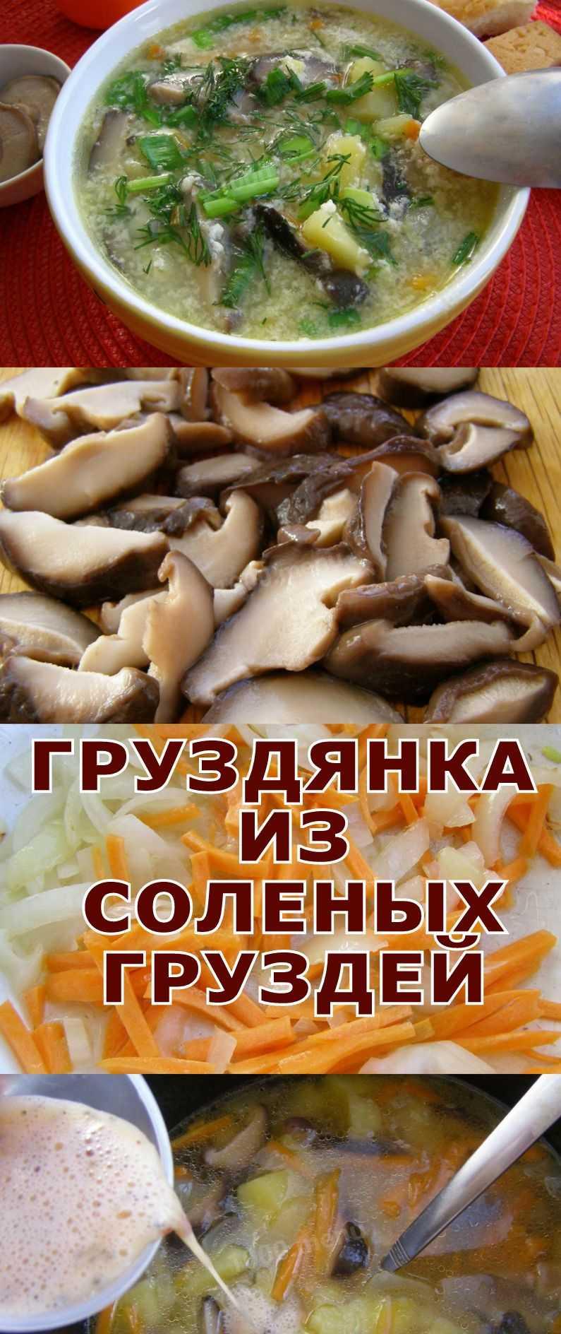 Груздянка: рецепты из соленых груздей с картошкой, на мясном бульоне, фото