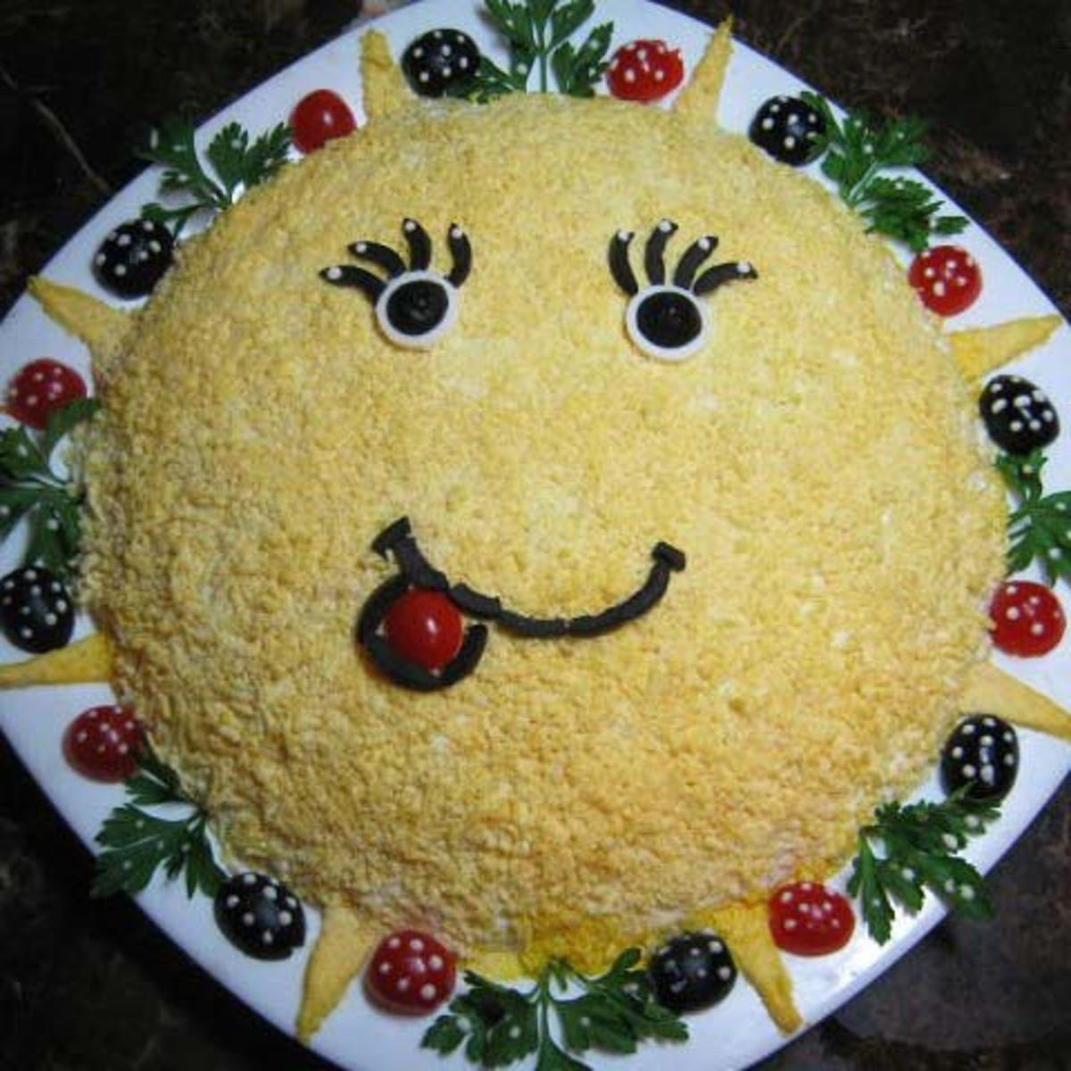 Салат солнышко рецепт с фото пошагово