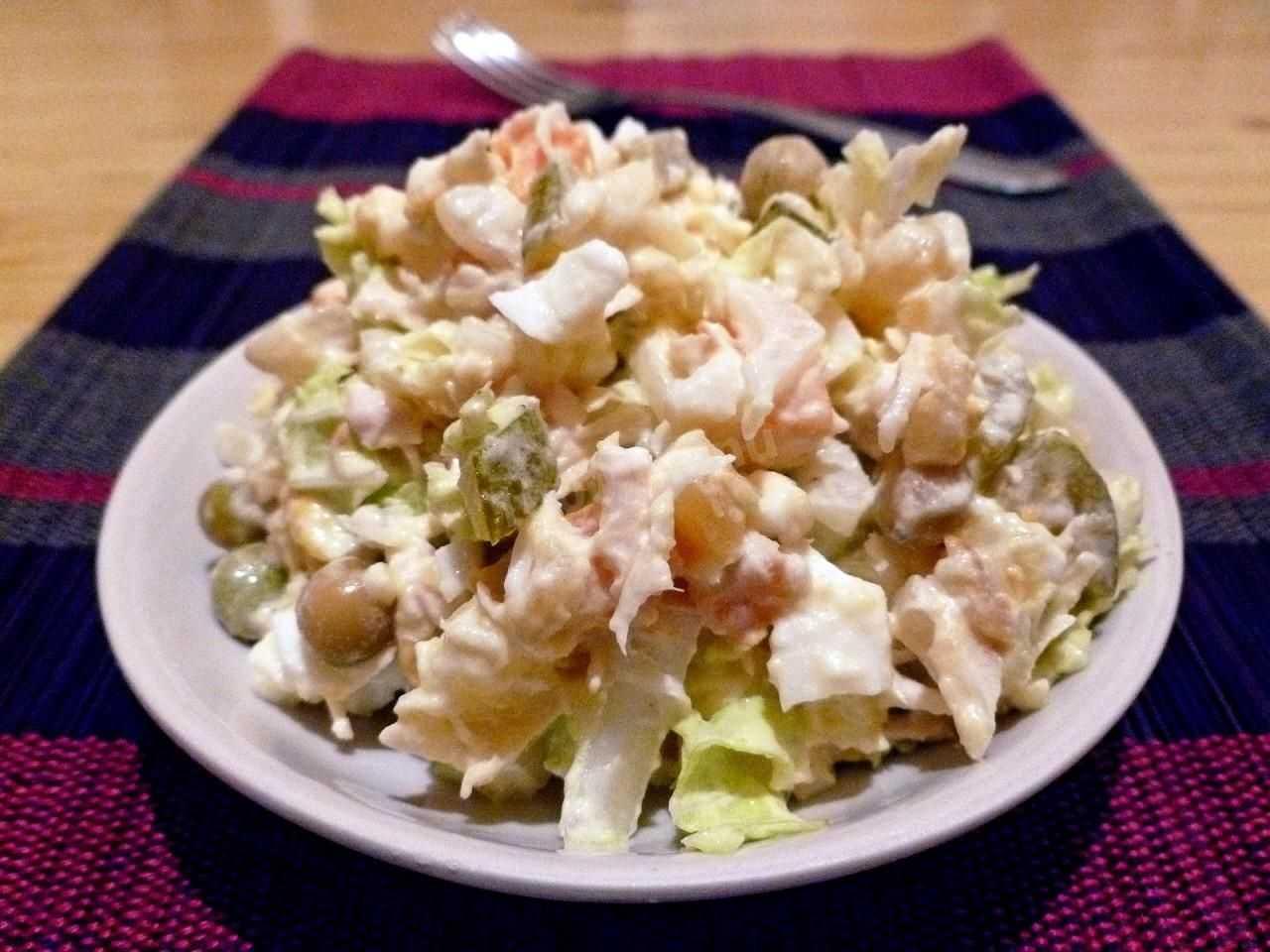 Салат с пекинской капустой и курицей: 10+ рецептов с фото — просто и вкусно!