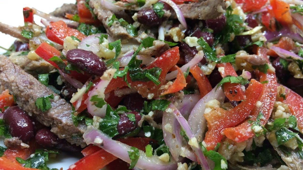 Салат тбилиси – рецепт приготовления классический с говядиной