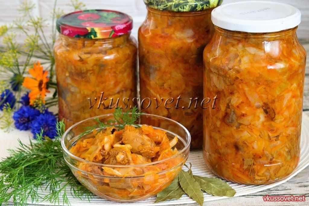 Грибная солянка с капустой на зиму - 5 рецептов впрок