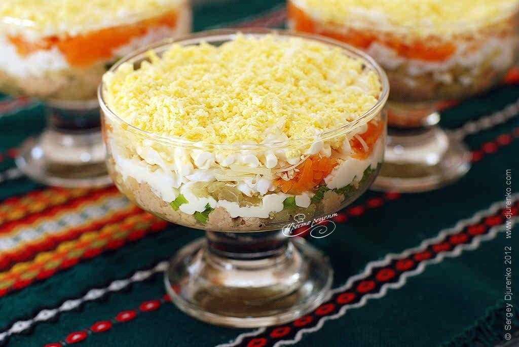Салат нежность с печенью трески рецепт с фото пошагово и видео - 1000.menu