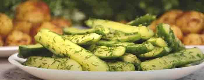 Рецепты быстрого  приготовления классических малосольных огурцов