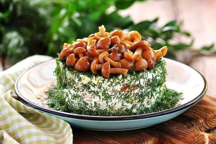 Салат с грудкой и маринованными шампиньонами рецепт с фото пошагово - 1000.menu