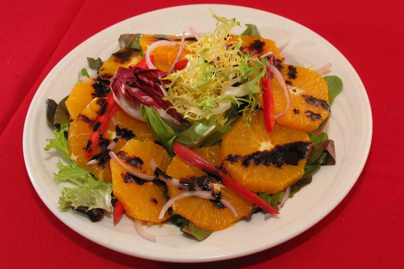 Фруктовый салат киви апельсин яблоко банан