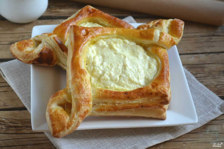 Пирожки из слоеного теста в духовке рецепт с фото пошагово и видео - 1000.menu
