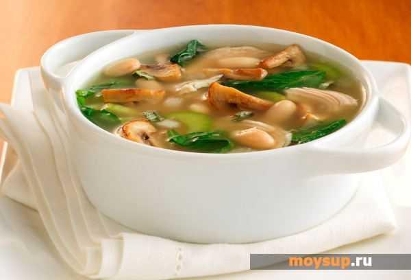 Грибной суп из сушеных грибов с перловкой