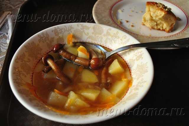 Грибной суп из опят: пошаговый рецепт приготовления