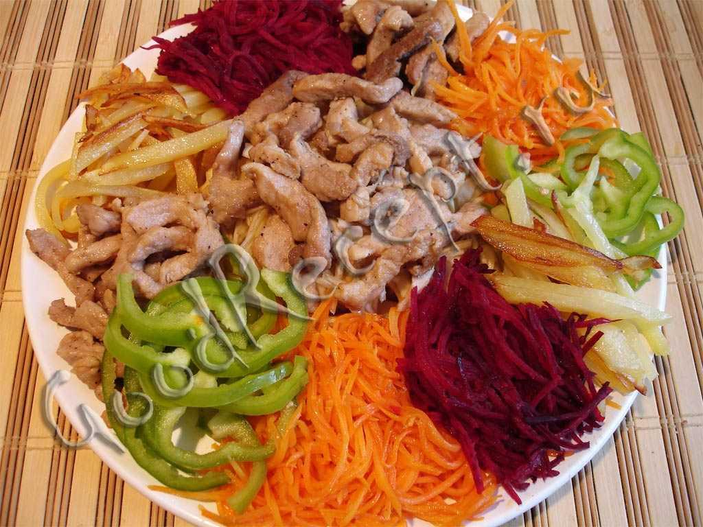 Салат чафан: классический с говядиной или курицей, оригинальные рецепты пошагово, как подать на стол