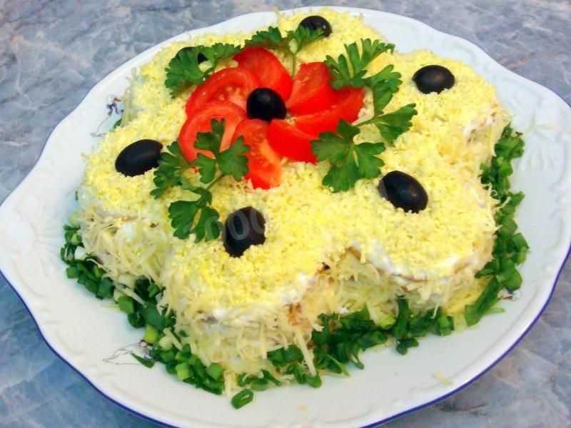 Салат с печеньем рыбки рецепт