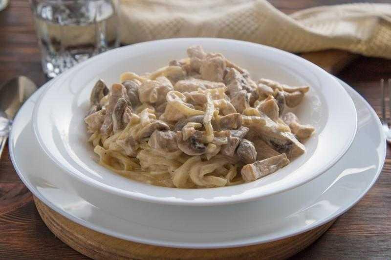 Фетучини с курицей и грибами, пошаговый рецепт