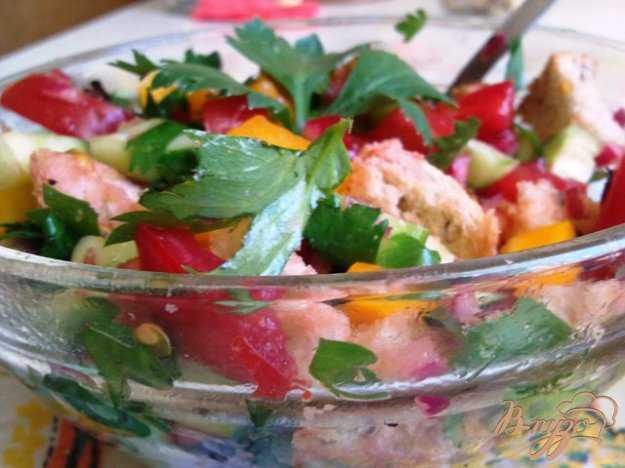 Салат панцанелла: только вкусные рецепты итальянского хлебного салата