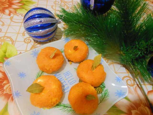 Как сделать мандаринки из сыра и моркови с чесноком в домашних условиях