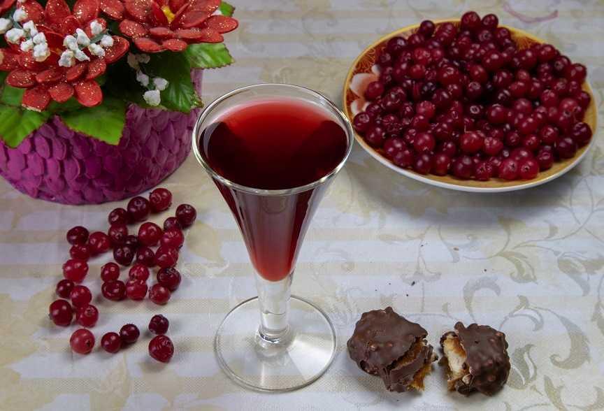 Домашний рецепт приготовления ликера из клюквы
