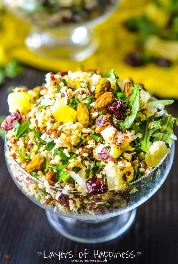 Овощной салат с киноа рецепт с фото - 1000.menu
