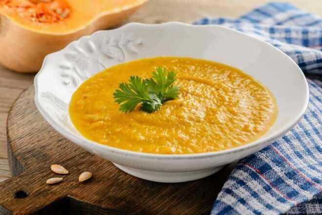 Суп-пюре из тыквы и картофеля: рецепт приготовления данного блюда и его калорийность