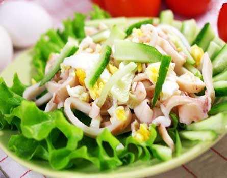Салат с авокадо и кальмарами: рецепты с фото. как готовить вкусный и некалорийный салат с авокадо и кальмарами.