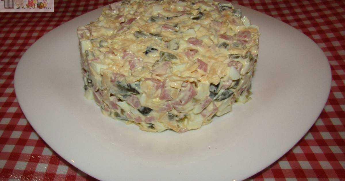 Салат нежность с ветчиной – простое и очень вкусное блюдо: рецепт с фото и видео