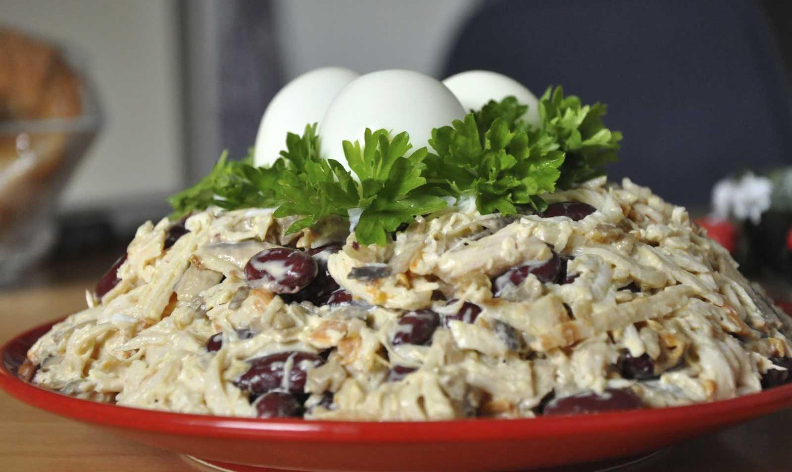 Как приготовить салат грудка консервированные грибы майонез: поиск по ингредиентам, советы, отзывы, пошаговые фото, подсчет калорий, изменение порций, похожие рецепты