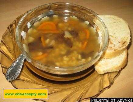 Суп из сушеных белых грибов: рецепты с перловкой, гречкой, клецками, курицей, сметаной и мукой. Как подготовить основной ингредиент, сколько варить, калорийность блюда.