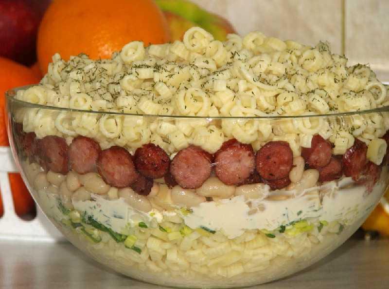 Столичный салат — лучшие классические рецепты с курицей, говядиной, колбасой