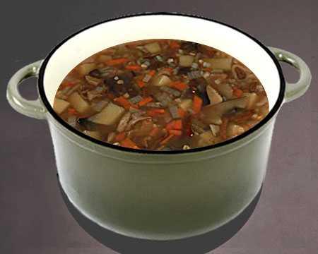 Суп из замороженных белых грибов: как и сколько варить. Рецепты с курицей, манкой, перловкой и яйцами. Калорийность продукта.