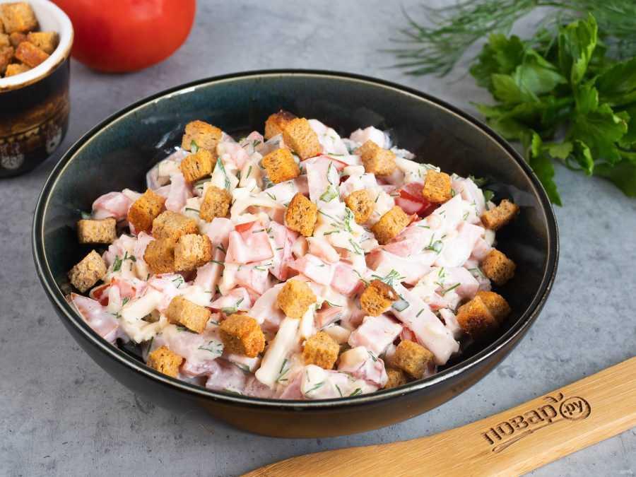 Самые простые рецепты салата с фасолью и копченой колбасой