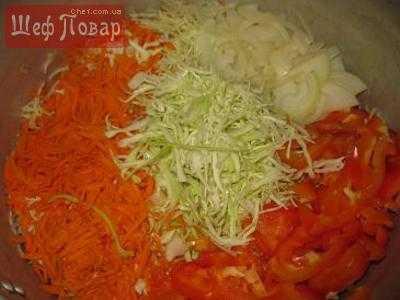 Сочная и хрустящая капуста провансаль быстрого приготовления