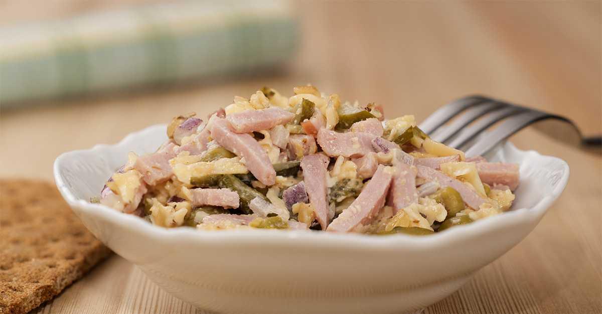 Салат с ветчиной и грибами — 10 рецептов очень вкусных салатов