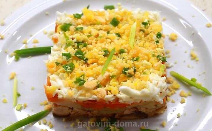 Салат мимоза с горбушей: рецепт приготовления с фото