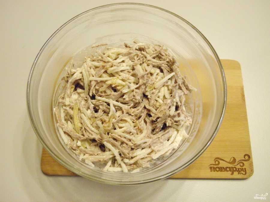 Салат «сай» из редьки. узбекские блюда