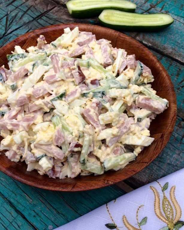 15 салатов с ветчиной и сыром, в которые ты влюбишься