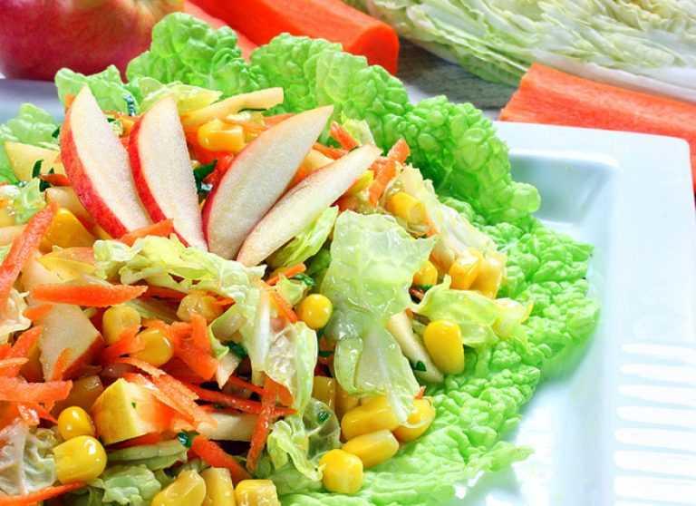 Как приготовить фруктовый салат с пекинской капустой: поиск по ингредиентам, советы, отзывы, пошаговые фото, видео, подсчет калорий, изменение порций, похожие рецепты