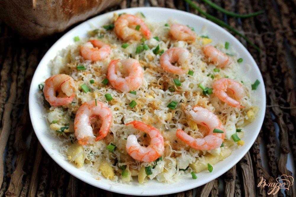 Салат сытый боцман с семгой и красной икрой рецепт с фото пошагово - 1000.menu