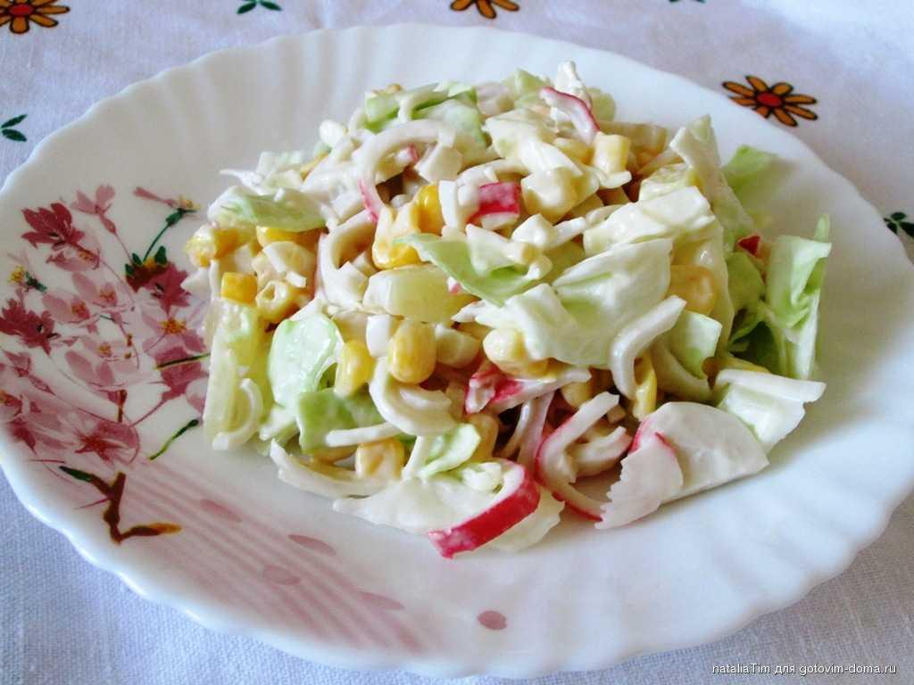 Крабовый салат с ананасом — лучшие рецепты. как правильно и вкусно приготовить крабовый салат с ананасом.