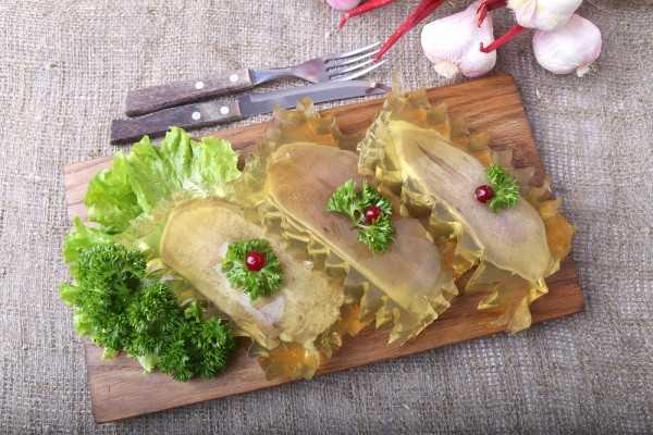Заливное из свиного языка - как приготовить с желатином или без по рецептам с фото