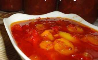 Приготовление лечо с томатной пастой
