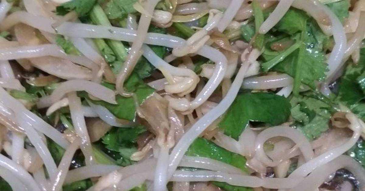 Салат из пророщенных ростков сои
