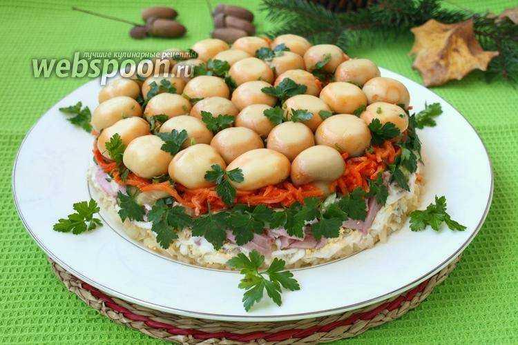 Салат ежик с корейской морковкой – оригинальные блюда своими руками: рецепт с фото и видео