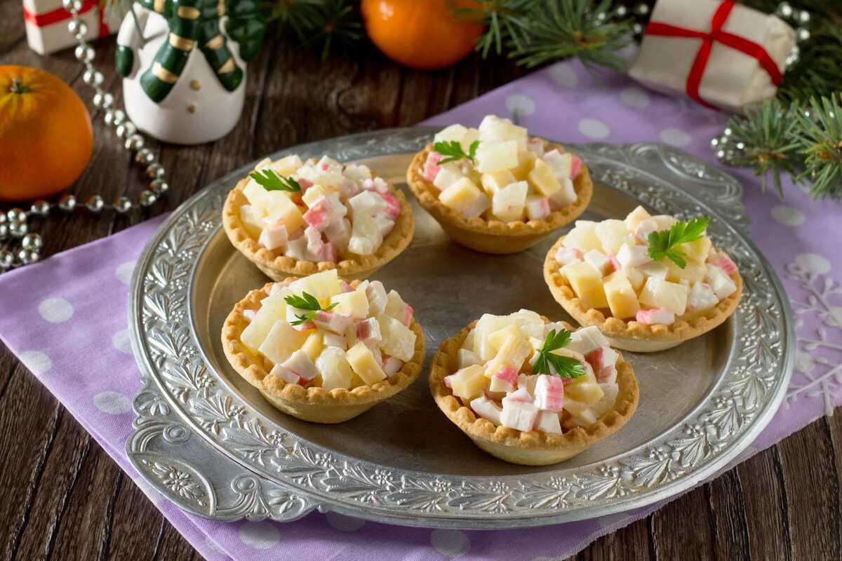 Салат в тарталетках – 12 рецептов вкусных и нежных салатов для тарталеток