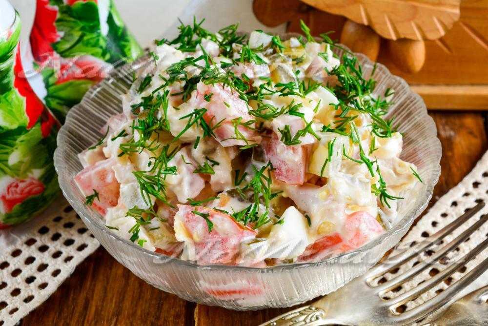 Салат с шампиньонами и ветчиной: 8 рецептов, фото и видео приготовление