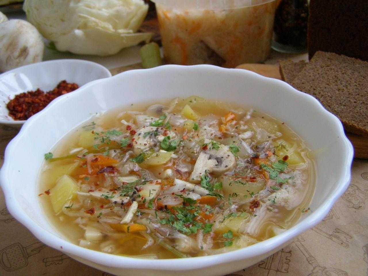 Грибной суп в мультиварке — пошаговый рецепт с фото