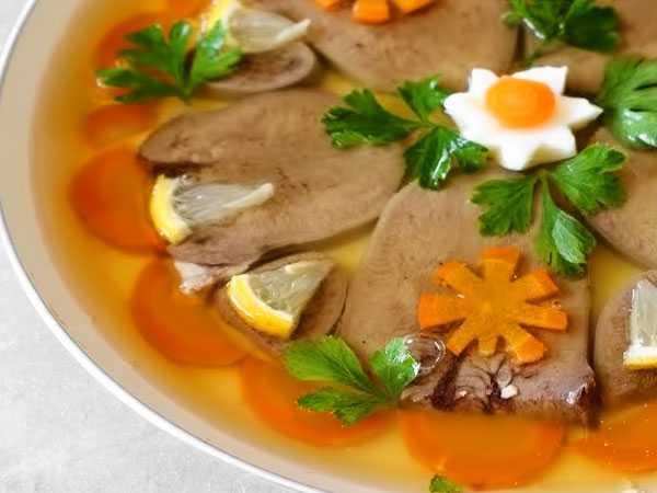 Пошаговый рецепт заливного из говяжьего языка с фото