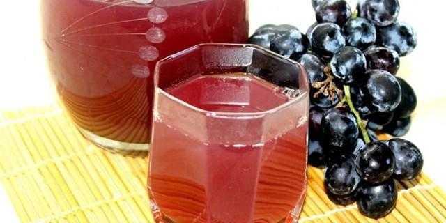 Компот из винограда на зиму. рецепты